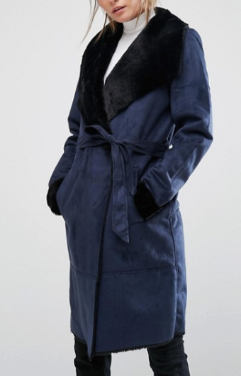 Blue wrap coat