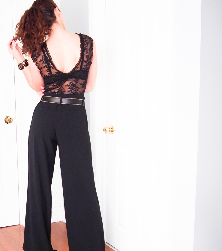 Low back lace top