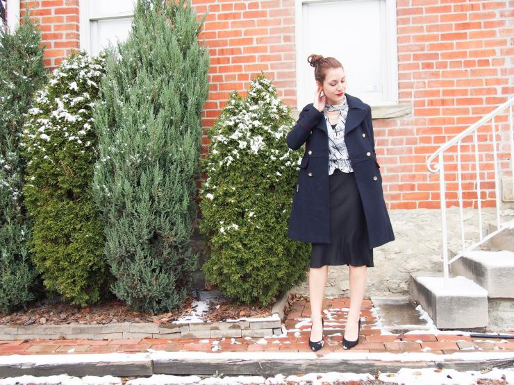 Vince Camuto military coat