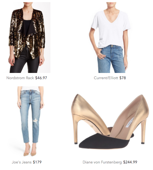 Sequin jacket outfit