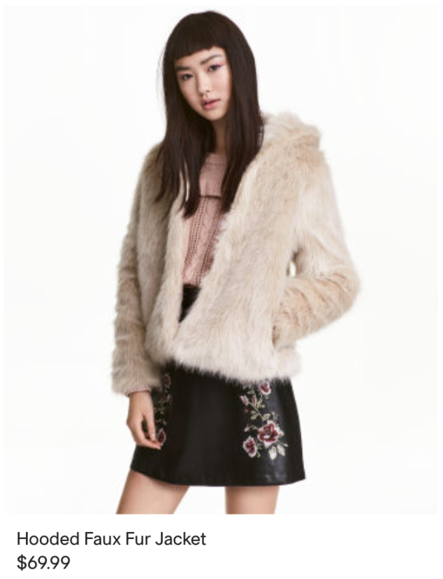 H&M fur jacket