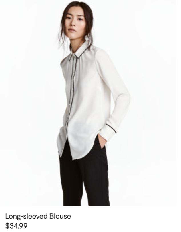 H&M Pajama blouse