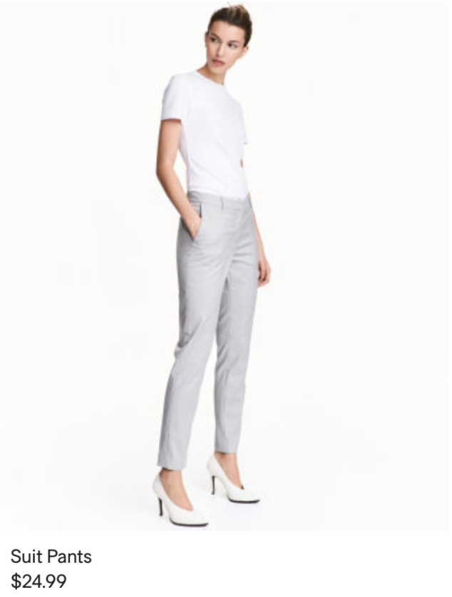 H&M gray pants