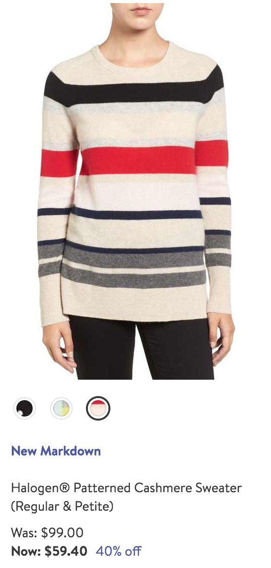 Bold striped sweater