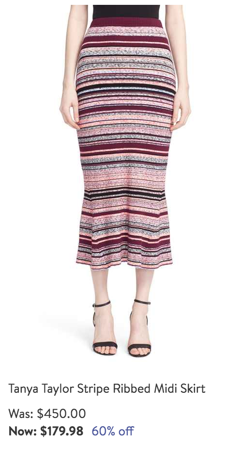 Tanya Taylor striped skirt
