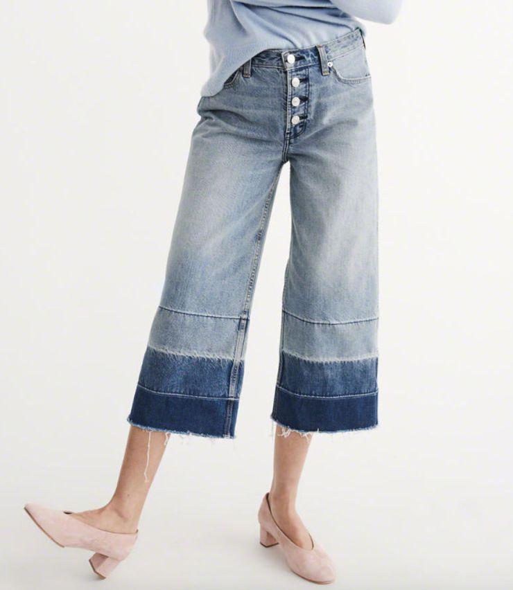 Abercrombie denim culottes