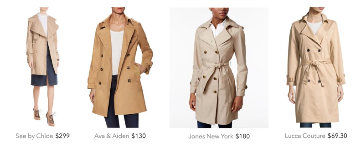 Tan trench coats
