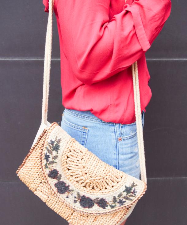Embroidered summer bag