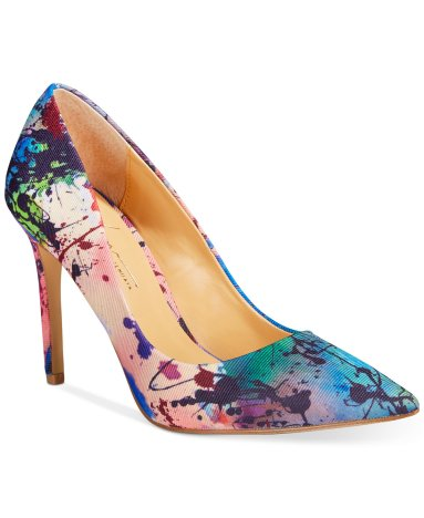Paint splatter print pump