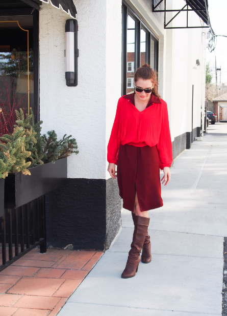 red-and-burgundy-outfit