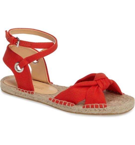 Red espadrille sandal
