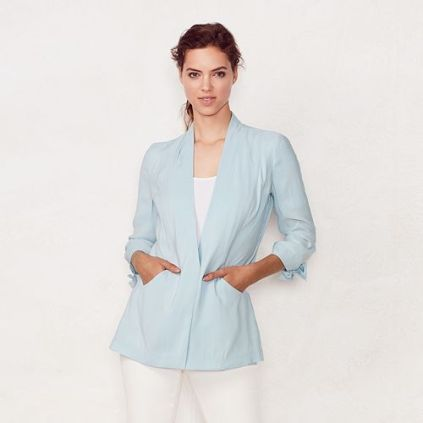 Womens light blue blazer