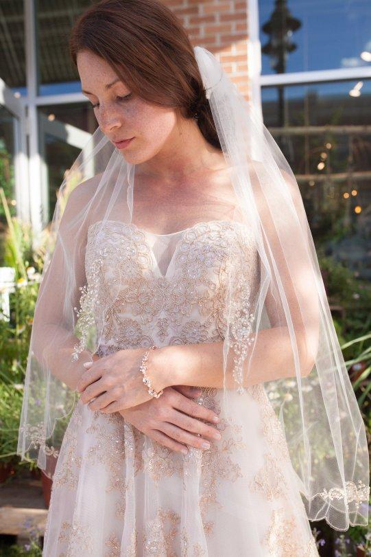 blush bridal accessories