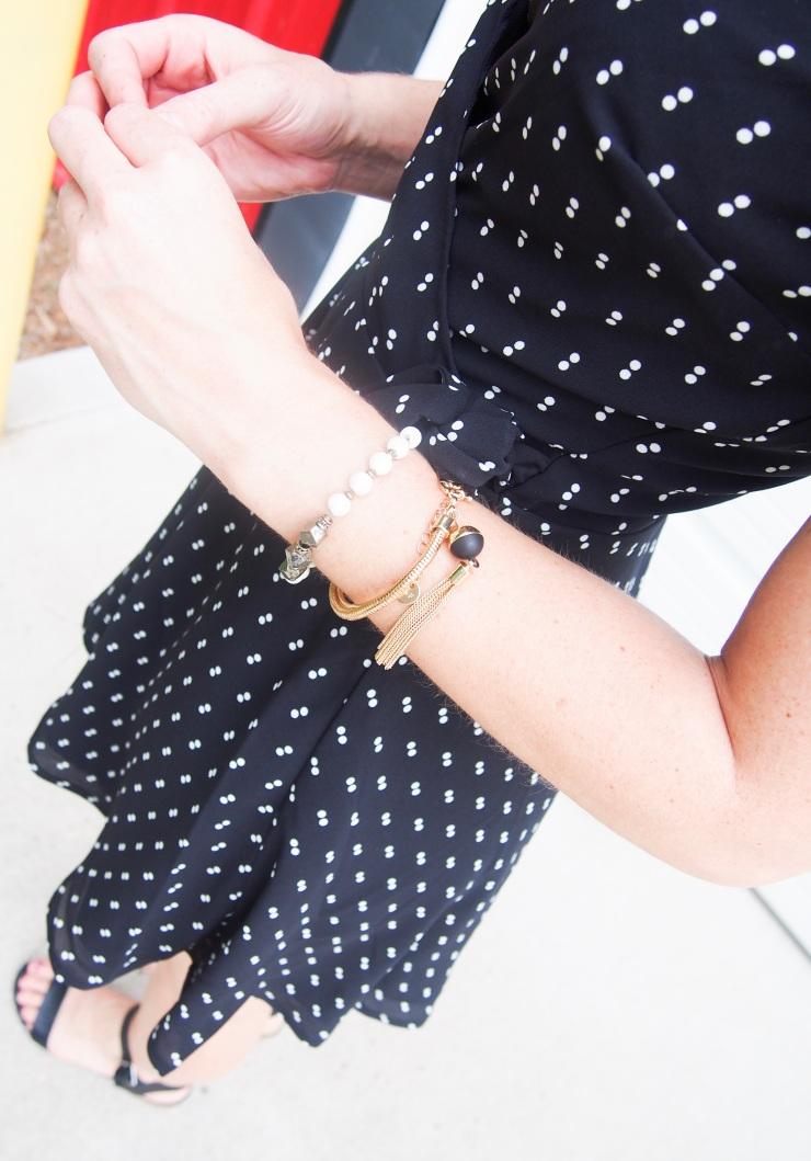 Gold tassel bracelet