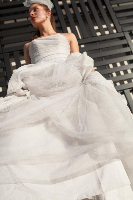 Vera wang gray wedding dress