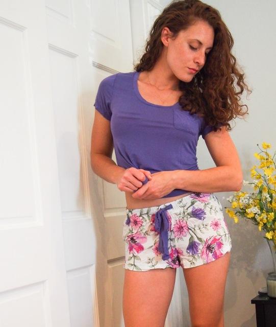 Womens floral pajama set