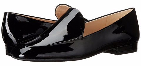 black patent loafer