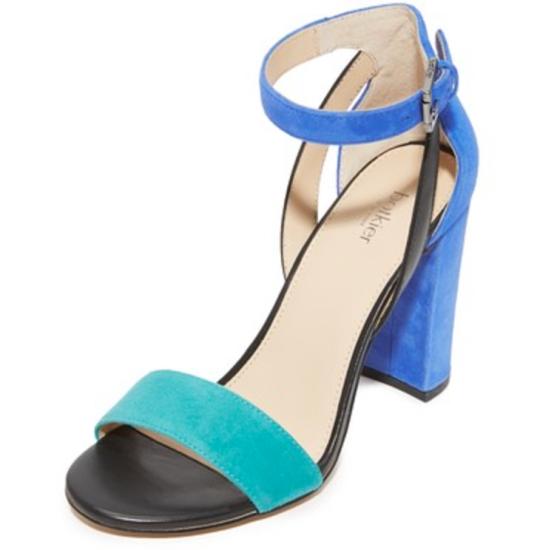 colorblock sandals