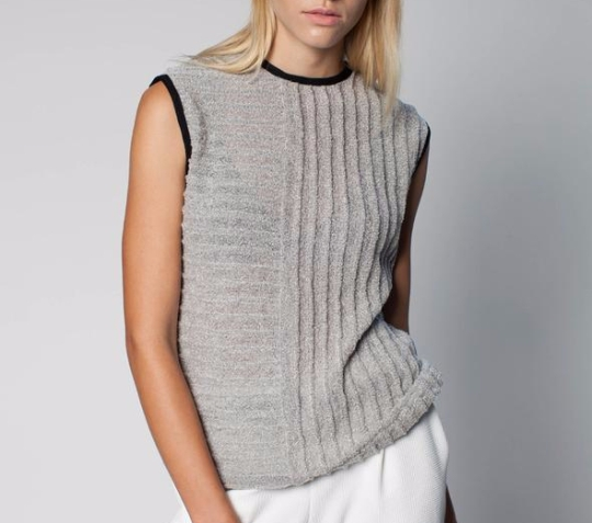 Gray knit top