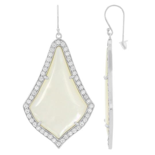 white drop earring