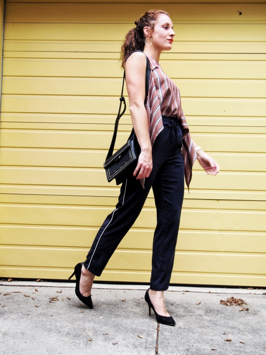 Chic track pant look