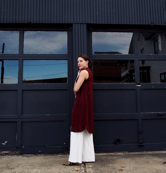 Long vest dress