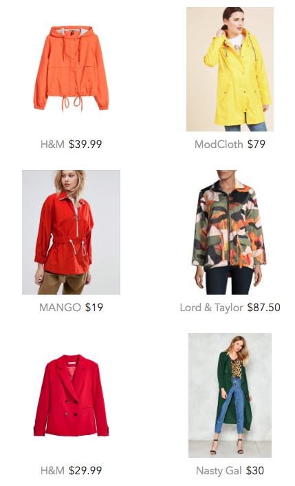under $100 spring jackets