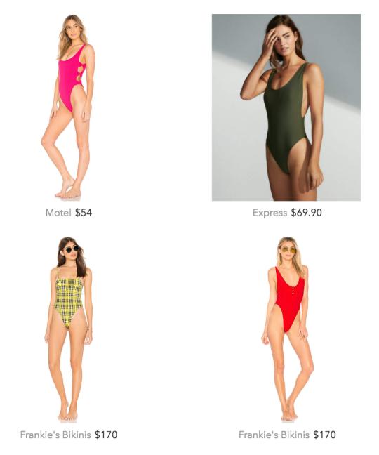 One piece bikinis