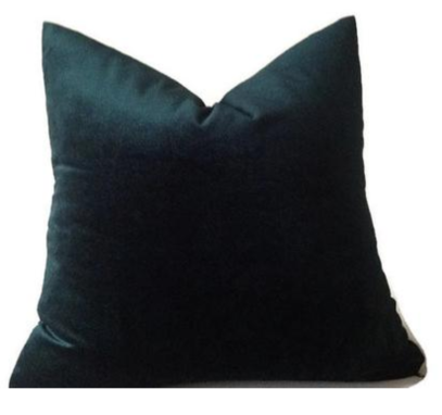 Dekowe green velvet pillow