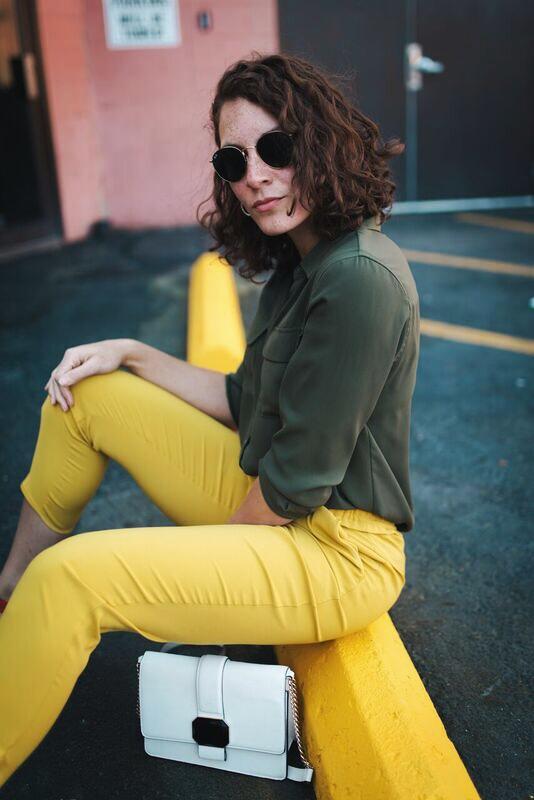 Zara yellow pant